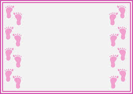 girly borders for microsoft word baby shower borders baby shower invitations