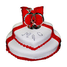 2 Tier Heart Shaped Wedding Cake Just Cakes