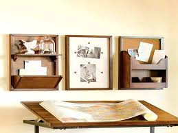 cabinet wall organizer with wooden table rustic mail
