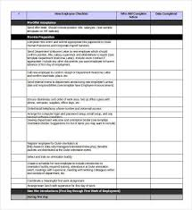 Sample New Hire Checklist Template Adorable 48 Onboarding Checklist Samples And Templates PDF Word Excel