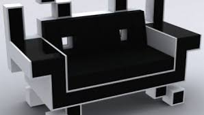 Cool couches Black The Space Invader Couch For Geeky Yet Cool Interior1 Walyou Cool Couches Archives Walyou