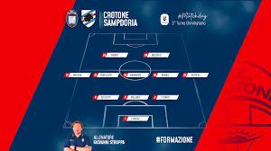 Crotone-Sampdoria, le formazioni ufficiali