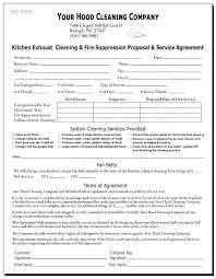 Commercial Cleaning Services Contract Proposal Inspirational