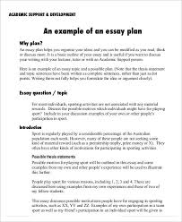 essay plan templates sample example format  academic essay plan