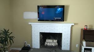 Ing Install Tv On Rock Fireplace Wall Mount Over Hide Cables Mounting Where  To Put Components. Mounting Tv Above Fireplace Hiding Cables Plaster Walls  ...