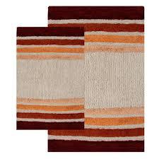 chesapeake merchandising blue tuxedo stripe 2 pc bath rug set com