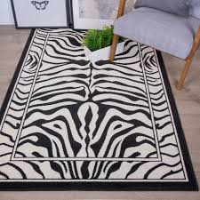 details about traditional black white zebra print living room rugs affordable small large rugs