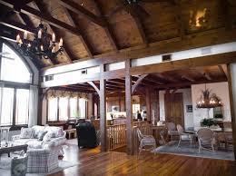 exposed beams living room simple