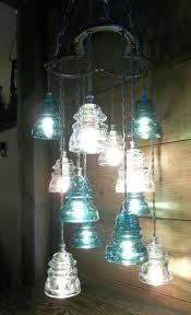 save on crafts chandelier horse shoe antique glass insulator pendant light fixture art large size