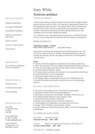 Solutions architect CV sample, CV writing, career history, work experience,  academic, jobs