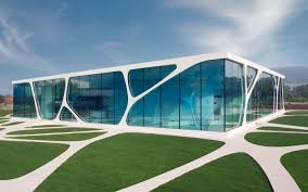 Leonardo Glass Cube Architecture Wallpaper