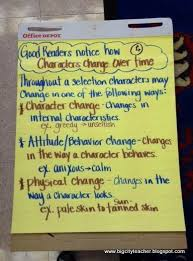 Character Change Anchor Chart Awesome Chart On Characters In A Text Changing Over Time
