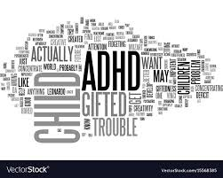 adhd gifted text word cloud concept vector image