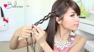 Headband Hair Style bebexo chain braid headband hairstyle for medium long hair 8270 by wearticles.com