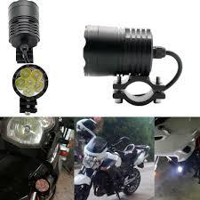 Motorbike Fog Lights 2pcs Led Universal Motorcycle Fog Light Auxiliary Lamp Aluminium Housing 12v 24v Motorbike Headlight Spot Light Passing Lights