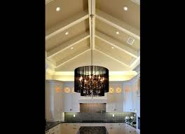 Cathedral Ceiling Kitchen Lighting Millwork Beams In A Vaulted Ceiling Kitchen Home Design And