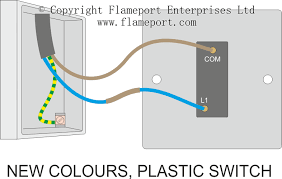 one way switched lighting circuits one way plastic switch connections new colours