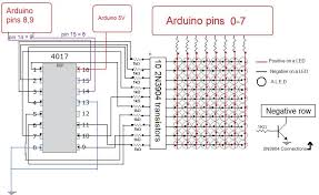 led matrix wiring diagram led image wiring diagram how to build an arduino led matrix in 3 simple steps diy hacking on led matrix
