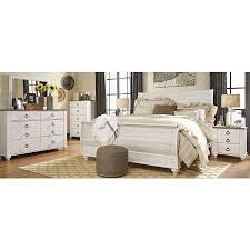 whitewashed bedroom furniture. Willowton Whitewash Sleigh Bedroom Set Whitewashed Furniture O