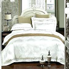 embroidered bedding luxury wedding white set satin jacquard bedspread duvet cover sheets bed in mexican