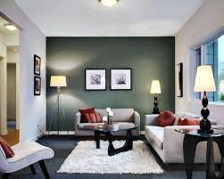 living room green feature wall designs