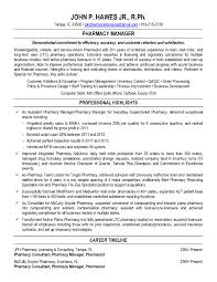 Pharmacist Resume Sample Pharmacist Resume Sample Example Of