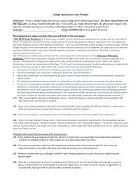 college application essay prompts and hints