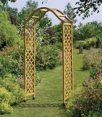 uk garden supplies tan wooden garden arch