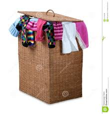 laundry basket clipart. Overflowing Wicker Laundry Basket Path Clipart