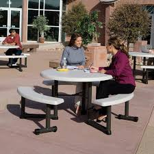 round picnic table 44