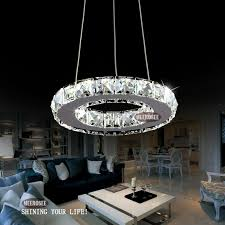 office light fixture. Modern LED Ring Lamp Light Fixture Crytsal Office Lighting Chandeliers Diameter 200mm Cool White Small Round Chandelier-in From Lights G