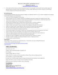 Environmental Health Specialist Sample Resume Ideas Collection Resume Templates Safety Technician Assistant Safety 20