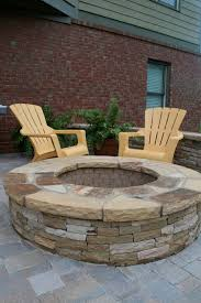 Stacked Stone Fire Pit half circle stacked stone firepit fireplaces and firepits 8643 by uwakikaiketsu.us