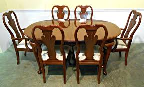 queen anne dining room table. queen anne oval dining room table oak chairs