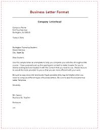 Formal Letter Format Samples Business Letter Format Business Professionalism Business Letter