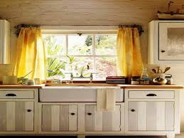 Window Dressing For Kitchens Kitchen Window Curtain Turn A Drab Window Above The Sink Into Fab