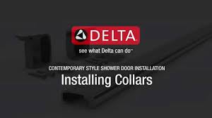 installing the collars for contemporary sliding shower doors hd delta shower doors