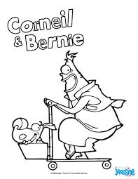 Coloriages Corneil Et Bernie Sur Leur Trottinette Fr Hellokids Com Coloriage De Trottinette L