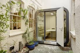 Office pods Treehouse Man Of Many Office Pods Work From Home Without Distraction Man Of Many