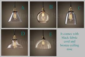 industrial modern lighting. NEW MODERN VINTAGE INDUSTRIAL RETRO LOFT GLASS CEILING LAMP SHADE PENDANT LIGHT (Style B): Amazon.co.uk: Lighting Industrial Modern T