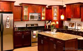 Kitchen Cherry Cabinets Brown Varnished Wood Kitchen Cabinet Cherry Cabinet Kitchens Beige