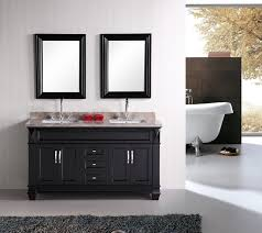 Design Element Hudson 60 Double Sink Vanity Set in Espresso