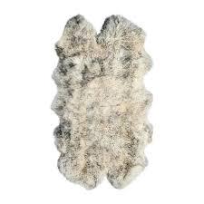 natural 4 in x 6 in new zealand sheepskin grant grey quattro area rug
