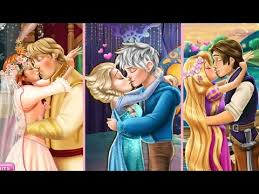 ☆ disney princesses elsa anna cinderella ariel rapunzel love and Rapunzel Wedding Kiss Games disney princesses elsa anna cinderella ariel rapunzel love and kissing game compilation hd Rapunzel and Hiccup Kiss