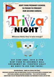 Kpps Trivia Night Kent Park Primary School