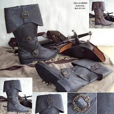 details about carribean pirate boots black brown sizes uk 7 13 prefect for costume and larp