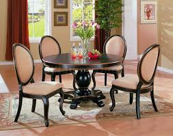 dining room round room tables seats formal table high gloss finish black wooden bullnose edge