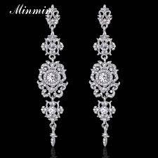 wedding long earrings