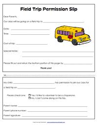 Permission Slip Printable School Templates School Printables