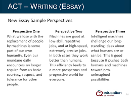 the new sat vs act which test is right for your students ppt new essay sample perspectives 14 act w riting e ssay perspective one what